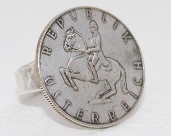 Austrian Coin Ring - Equestrian