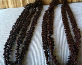"Vintage 60's ""APPLESEED LEI NECKLACE"" in Dark Chocolate Brown"