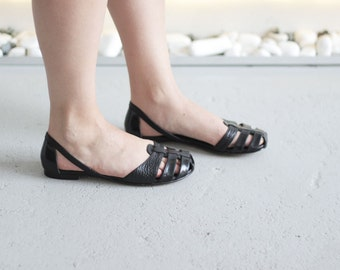 Julia - Black - FREE SHIPPING Handmade Leather Shoes with winter sale price