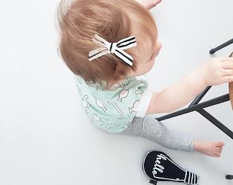 Halloween Hair Bow - Striped Bow - Hand Tied Bow - SchoolGirl Bow