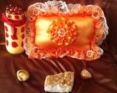 Orange Bursts Of Vitality Pillow