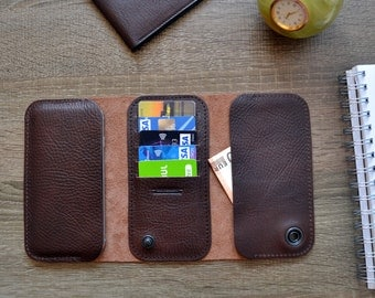 Samsung Galaxy S7| S7 Edge wallet case-made from 100% natural calf leather