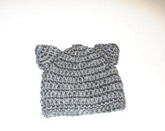 Kitty Hat Gray Sizes Preemie-24M