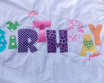 Personalized Pillowcases-Monogrammed Summer Camps Slumber Parties Birthday Parties Standard size