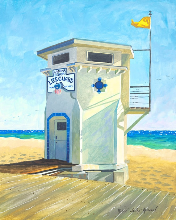 The laguna Beach Lifeguard Stand