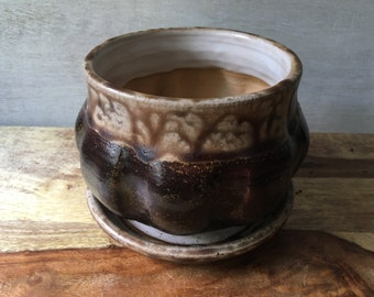 Ceramic Flower Pot, Handmade Pottery Planter, Stoneware Flower Pot, Handmade Ceramic Flower Pot, Indoor Ceramic Flower Pot, Succulent Pot