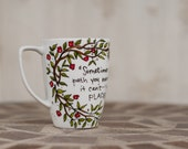 """Geillis Duncan """"Sometimes you find yourself on a path you never expected"""" Large, white mug - Outlander"""