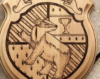 Hogwarts School Crest, Hufflepuff- Handmade Plaque