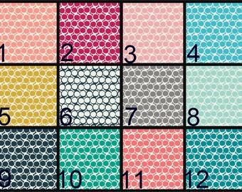 Crib Blanket, Crib Bedding, Crib Quilt, Baby Bedding, Reversible Baby Quilt, geometric, circles, 12 colors
