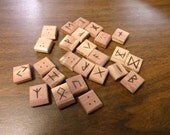Cedar rune set  - Elder Futhark - FREE DOMESTIC SHIPPING