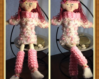 """Miss Jeanie 19.5"""" Handmade tall Cloth Dolly, ready for play time with your little one"""