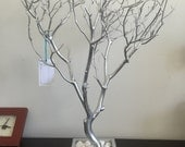 Set of silver trees