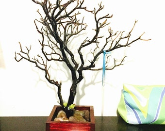 "15"" Red Jewelry Tree Accessory holder / Jewelry Organizer"