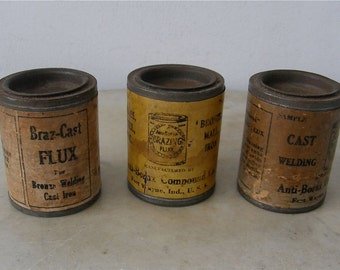 Choice of One (1) ANTI-BORAX CANS Iron Flux Glazing Flux & Braz-Cast Flux Cans Soldering Welding Fort Wayne Indiana Free Shipping!