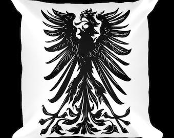 Eagle Crest White Designer Throw Pillow
