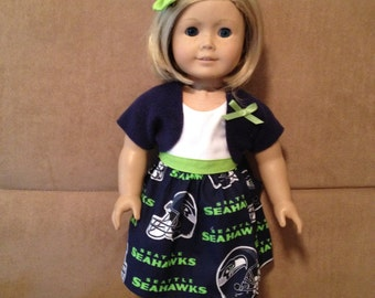 18 inch doll (modeled by American Girl) Seattle 4 piece set