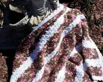Pink Chamo Afghan