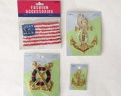 Assorted Nautical Patches, Vintage and New Patches, Crafting Supply, Sewing Supply