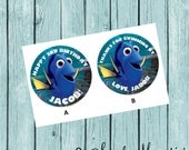 Finding Dory Favor Tags/Stickers- Printed and Shipped to you!