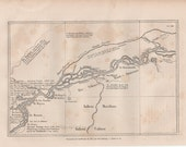 Antique Map os the Amazon, Peru 1866