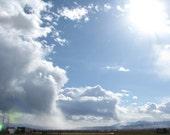 Digital Download Photo Cloud Falls Western Skies Home Office Decor