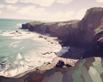 "Limited Edition Signed Fine Art Print - ""The Sea Ranch #2"" (Northern California) (Edition of 50)"