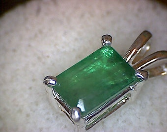 Beautiful Zambian Emerald Pendant