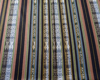 "Ecuador Wide 54"" fabric table cloth yardage 2 yard cut  Andean suiting type woven acrylic grays adobe color South West Style"