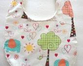 Organic Chenille Baby Bib, Triple Layer Baby Bib