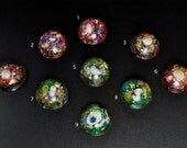 One-of-a-Kind Handmade 25mm Round Sea-Themed Resin Cabochon