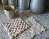 Hobnail 100% Cotton Farmhouse Dishcloth Kitchen Cleaning Cloth