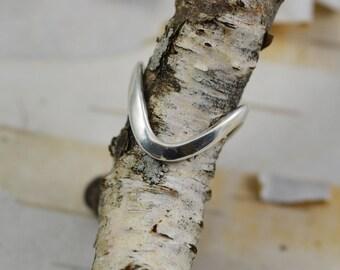 Slalom Ring Stowe Slalom Ring Sterling Silver Mountain Ring