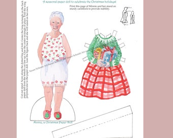 Christmas paper doll