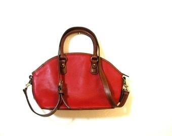 Coach Red Pebbled Leather Shoulder/Hand Bag- Affordable Vintage Purse 4228- Leather Handles