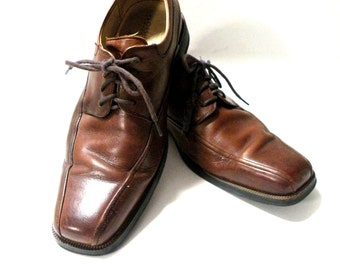 Vintage Brown Oxford Dress Shoe Florsheim Comfortable Cushioned Sole Men Shoe Size 7 1 2 D