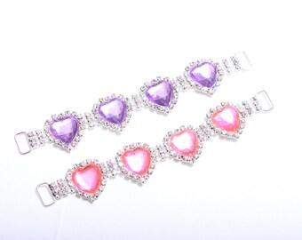 Rhinestone Bikini Connector Slider Crystal Headband Connector Slider Strap Connector Slider Wedding Bridal Accessories