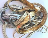 MOVING SALE Half Off Lot of Mixed Metal Vintage and Salvaged Tarnished Snake Chains for Assemblage