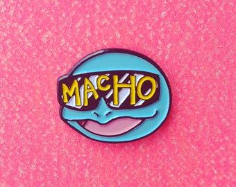 SAVAGE SQUAD - Pokémon Squirtle/Macho Man enamel lapel pin mashup