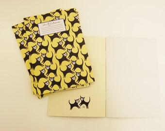 Plans & Endeavours A5 Notebook - Cat Pattern.