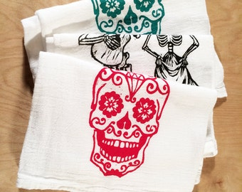 3 Screen Printed Tea Towels - Mix and Match