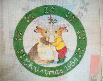 4 vintage bunnies . The Strawberry Patch embroidery patterns . vintage embroidery panels vintage Christmas embroidery patterns . mouse art .