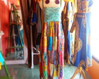 Colorful Lightweight Batik Maxi Dress
