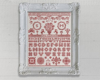 Midsummer Sampler - Instant Download PDF Cross Stitch Embroidery Pattern