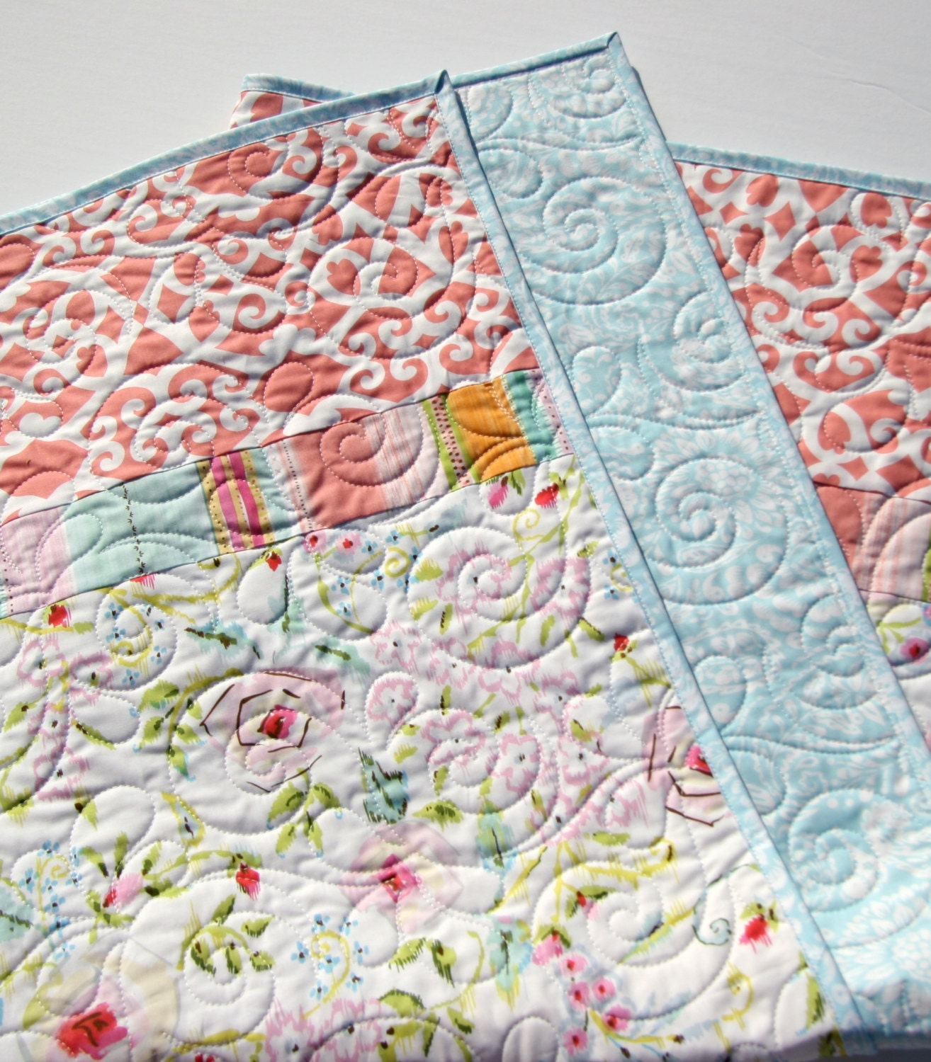 Baby quilt kit diy do it yourself project meadow dena designs 700 shipping solutioingenieria Images