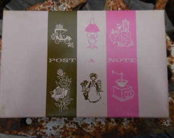 Vintage Set of 40 Post a Note Mailing Post Cards Retro 1950s to 1960s by Current Full Box NOS
