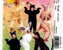 McCalls 6106 Adult Animal Costumes: Kangaroo, Bear, Lion, Leopard, Bunny, Mouse Pattern Size Small Uncut Pattern