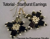 Beading Tutorial, Earring Tutorial, DIY Earrings, Bead Weaving Pattern, Tutorial for Earrings, Earring Pattern