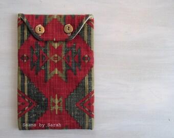 Padded Envelope Organizer / Vintage Look/ Travel Bag
