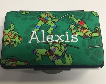 Personalized Kids School Pencil Box Case Ninja Turtles