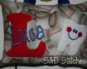 Tooth Fairy Pillow Boys Personalized Baseball Chicago Cubs Tooth Chart Birthday